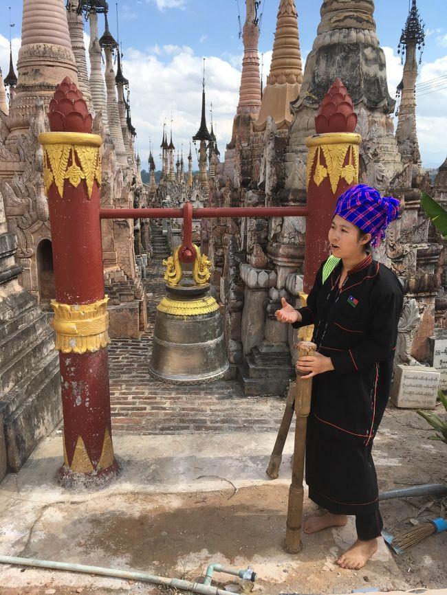 こちらの仏塔は横に鐘まである。<br />金持ち決定。<br /><br />こちらが専属ガイドのウインビンさん。<br />分かり易い単語を駆使して、説明してくれる。実に親切な人だった。