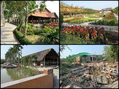 広大な敷地に民俗村のような体験型施設やレクレーション施設、レストラン、果樹園、そしてバンガロータイプの宿泊施設も備えた複合観光施設。入場料6万ドン。  緑豊かで広大な観光村だけどまだまだ発展途上のようで、園内のあちこちに無造作に資材や廃棄物が置かれる中で工事が進められていました。 パンフレットも園内マップも用意されていない。