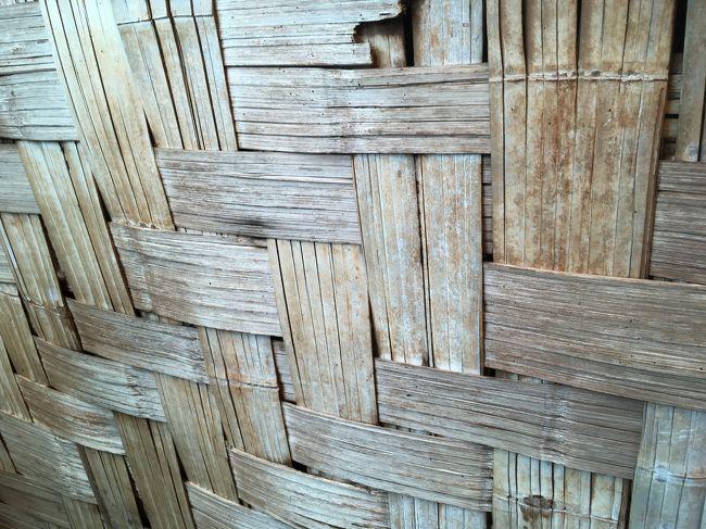 このように壁は編み込まれている。<br />寒くないのか?と聞いたら、全く、と言う。<br />