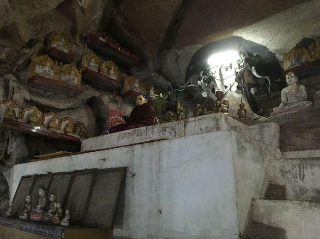 本当は鈴木さんに、ピンダヤという街にあるピンダヤ洞窟に行きたい、と言ったんだけど、遠いし、そんなに見るところないですよ、と言われて勧められたのがこちら。<br />