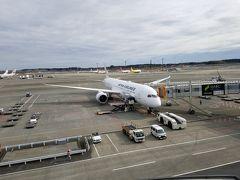 バンコクまではこちらの787機にお世話になります。最近A350が多かったので787ひさしぶりです。