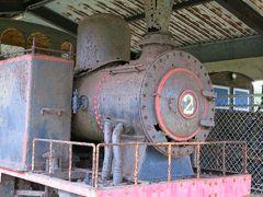 屋外に展示されている往時の蒸気機関車。 所謂「シュガートレイン」。  この鉄道は島内を網羅していたというから、その財力たるや、恐るべし。