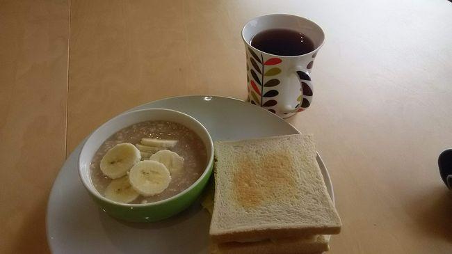 とりあえず、朝食はうまい。<br /><br />幸せ。