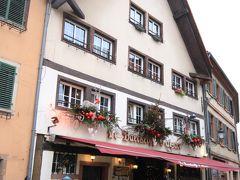 ランチはここでいただきました. Le Baeckeoffe d'Alsaceというお店で,アルザス料理のお店です.