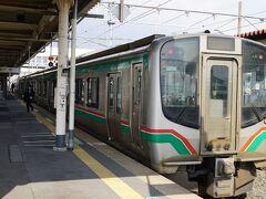 小牛田駅に到着。 女川11:10ー小牛田12:31 石巻線  小牛田から東北本線で仙台に向かいます。
