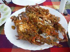 チャイニーズ・フィッシングネットでとった蟹で昼食