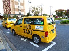 境港駅 駅前に珍しいタクシーが停まっていた。 ちょっと聞いたら、普通のタクシーと言う事だった。
