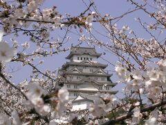 【姫路城の桜①】 国宝・姫路城大天守 http://www.city.himeji.lg.jp/guide/castle/ (2003年4月6日撮影)