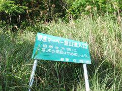 ここは野底マーペと呼ばれる野底岳の短縮登山道の入り口だ。車を止めてここから歩き出す。
