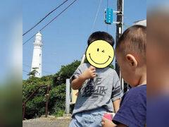 日御碕神社まできたので 日御碕灯台にも登ろうと思って駐車場まで来たけれど ここで子ども達の体力を奪ってしまっては コンサートで爆睡なんてことも・・・ 駐車場で記念撮影だけして引き返しました
