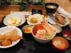 9:30 北海道のドーミーインの売りは、なんと言っても自分で作る海鮮丼です。