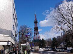 12:20 少し野暮用を済ませて、小樽に移動するためにバス停を目指します。今日も快晴です。