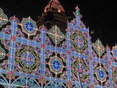 2月10日。  市政府広場で光の饗宴(ルミナリエ)をやっているというので来てみました。