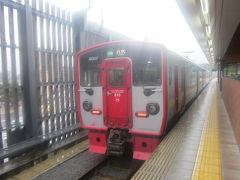 いよいよ、熊電の接続駅、上熊本に到着です。