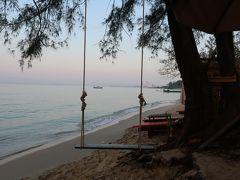 ホテル周辺のビーチを散歩。