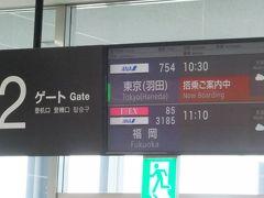 2月8日(金)   小松から全日空便で羽田に飛び、電車で成田空港へ。今回は小松羽田往復はマイレージの特典航空券の為費用は掛からず。