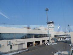 女満別空港に着きました。 寒さはあまり感じませんでした。