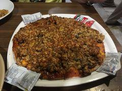 カレーピザとビリアニの夕食