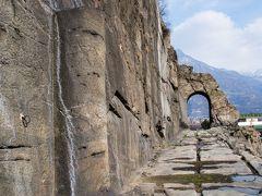 ドンナス Donnas の古代ローマ街道