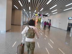 8広州空港についてトランジットのため次のゲートに 向かいます。 廊下の床が磨き抜かれていて天井の照明を鏡のように 映しています。 家内は「まるでウユニ塩湖  の鏡張り見たいよね。」とか言っています。 広州空港は大きくてきれいな空港でした。 広州空港の入国審査 機内で配られる出入国カードに記入する。 まず検疫 緑がついている所を通る。 入国審査官 日本語のアナウンスで指示される、左手指4本 次は右手 左右の親指は同時に 最後にカメラ目線で終わり。 審査官が入国印を押印してくれた。 チケット購入時やホテルのチェックイン時に この印が重要になる。  乗り継ぎの国内線への移動は 預け荷物がなかったのでターンテーブルの左を通過して 南方航空の係り員のチェック。 次にマシーンがあるので羽田で頂いた搭乗券をかざした。 扉があいて再度セキュリティチェックがあった。 女性用トイレは7つのうち奥の2つはTOTOの洋式。 トイレの入口に造花の真紅の蘭とダンシングレディが 大きな鉢にあった。 ゲート279から70に変更されたが近くだった。 近くのコンビニで水を買って100元を小銭にした。  関西出身の若いエキゾチックな日本人女性と話した。 昆明の中国語学校に短期留学に来たと言っていた。 飛行機の横の列に座っていたが日本人とは最後まで 気が付かなかった。 男性ばかりのCAさんから英語で乗り継ぎの説明されていたのを 聞いた。 荷物を預けた人は胸にワッペンを貼って地上係り員の 指示に従うように言われていた。 隣りの席の広州に出張で来ていた日本人女性と 日本語で話していたので気が付いた。 昆明への国内線も選べる暖かい食事が出た。 菜の花がトッピングされたヌードルより チキンとライスの方がおかずの種類も多く内容が良かった。 もっともアルコールはなかった。