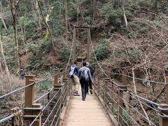 4号ルートのお楽しみ吊り橋です。  意外と揺れるんです。