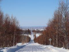 いつのまにか観光地化した斜里町の天に続く道。  全長28キロの道。