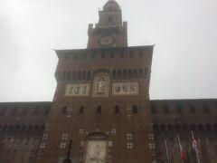 ミラノ最終日はスフォルツェスコ城へ!大寒波の影響でミラノも例外なく天気が悪いです。