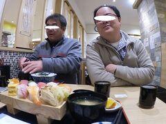 時間が空いたので寿司でもつまむかあ。  福島駅ビル、S-PALにあります、「どん辰」に来ました。