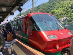 博多から特急に乗り、11時22分、ハウステンボス駅に到着しました。