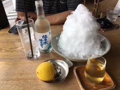 松華堂菓子店  松島の名所五大堂の向かいにあるお店 創業が、明治の!老舗とのこと  カステラが美味しいとのことでしたが、休憩したい!のでふわふわかき氷と天然水サイダー?で