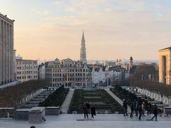 「芸術の丘」 ブリュッセルが一望できる高台が「芸術の丘」と呼ばれる美術館が立ち並ぶ地区。 真ん中にアルベール一世の騎馬像が見える。  正面に見えるのは、グランプラスに建つ市庁舎。 花の季節は広場一面に花のじゅうたんが広がるんだとか。 綺麗だろうなぁ。