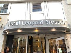 ホテル レオポルド ブリュッセルのレストランで早めの夕食