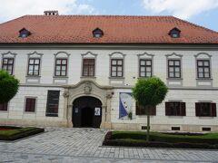 1795年に建てられたヘルツェル宮殿はバロック様式の建物。バラジディン市立博物館の昆虫学部門として利用されている。