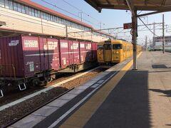 新倉敷で黄色電車に乗り換えて笠岡へ 初めての街、ワクワク!~