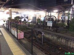 【門司港駅】 巨大な車止標識が8620の動輪より目立っています。 門司港に宿泊し、2日目は終了。