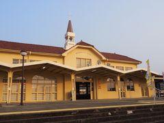 三角駅。ここから三角線で熊本に向かいます。