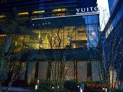 福徳神社(https://mebuki.jp/)横のYUITO(http://www.yuito-nihonbashi.com/)前にも桜とは関係ないイルミ点灯。