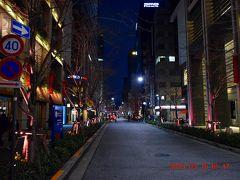 江戸桜通りも木々がピンクにライトアップされていました。