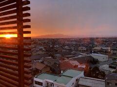 ホテルからの眺め  日の出の境港