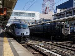 姫路駅を遅れて発車した『みずほ601号』は、山陽道を駆け抜け九州へ上陸し、進路を南に変え、九州を縦断していく。 そして、終着の鹿児島中央駅には、定刻の9:46に到着した。 ここからは、9:59発の日豊本線の特急『きりしま8号』に乗り換え霧島神宮駅へと向かう。