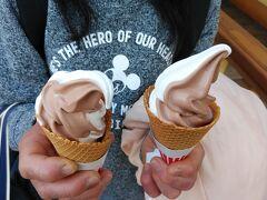 ミルク・チョコレートのミックスソフトクリーム。 詳しくは、下記クチコミで。