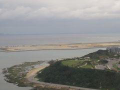 間もなく那覇空港。瀬長島が見えてきました。
