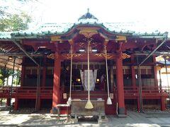 本日最初の目的地 赤坂氷川神社 境内