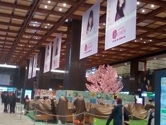 仙台駅到着 冬に私をそそのかした TDR のポスターは ホットペッパービューティー に変わってます