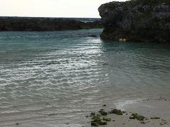 早速喜界島観光です。 まずはスギラビーチに行きました。 曇りで、風がとても強かったです。