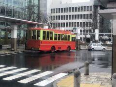 玉造温泉から路線バスで松江しんじ湖温泉駅へ行く  途中、松江駅で見かけたレイクラインバス