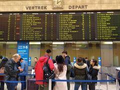 ブリュッセル中央駅に到着しました! 窓口でブルージュへの日帰り往復切符を購入。