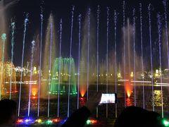 大雁塔 光と噴水ショー   ホテルからは反対側で行われます。