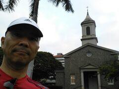 7:16 セントラルユニオン教会にやってきました。  ここはオカヤンと挙式をした教会です。