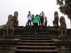 アンコール中央祠堂に向かう最後の階段